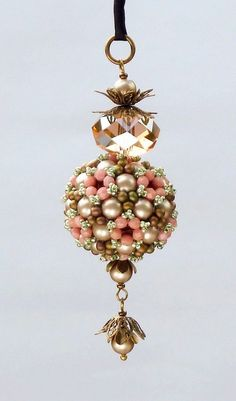 Pimp my Sphere beaded bead pendant/ PDF file by mariposa8000