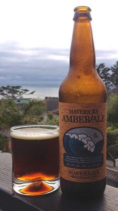 Mavericks Amber Ale, Half Moon Bay Brewing Company, bought coastside - HMB, California