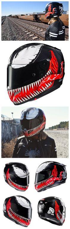 HJC Marvel Spiderman Venom Motorcycle Helmet