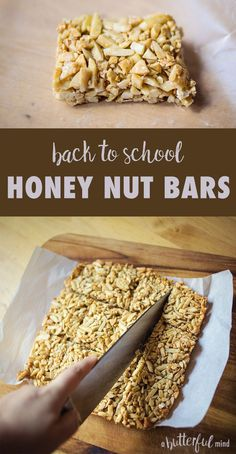 Honey nut bars are easy-peasy and the perfect back to school snack bar ...