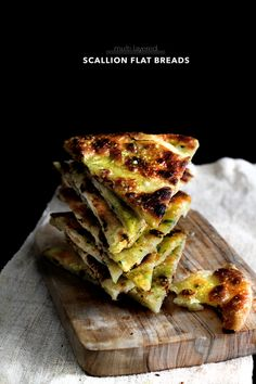 Scallion Flat Breads by ladyandpups: Savory and fragrant. #Breat #Scallion