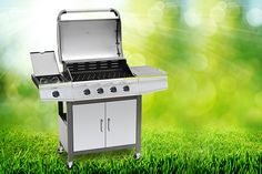 Gas BBQ with Grill & Side Burner