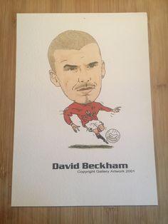 David Beckham drawn by Mark Tunnah