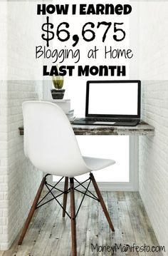 Here's my monthly income report where I detail how I make money at home! Last month I made $6,675 by blogging at home. I share exactly how I make money online, detailing each source of income. I make money blogging and I share how you can, too. Find out my tricks today!