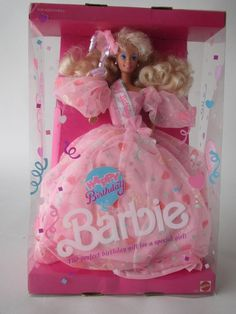 1990 Barbie Doll Happy Birthday 7913 Mattel Special Edition Pink Gown for sale online Barbie Birthday Party, Doll Party, Happy Birthday, Barbie Dolls For Sale, Barbie And Ken, Beautiful Barbie Dolls, Barbie Dream, Retro Toys, 90s Toys