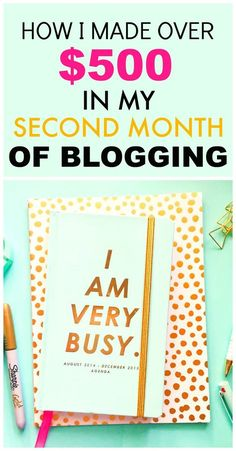 How she made over $500 in her second month of blogging is AWESOME! This has helped me out SO much! I had no idea you could make that much THAT FAST! I'm definitely going to be using her strategies and tips!