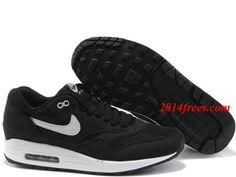 Mens #Nike #Air #Max 1 Black White Shoes    #Black  #Womens #Sneakers