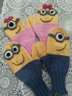 Neulonta ja käsityöblogi Minion, Mittens, Knit Crochet, Crochet Patterns, Gloves, Knitting, Crafts, Blogg, Craft Ideas