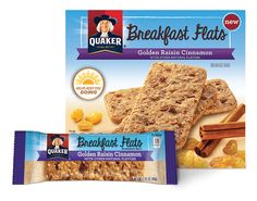 Product Snack Bars - Quaker Breakfast Flats, Golden Raisin Cinnamon | QuakerOats.com