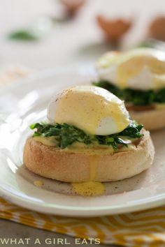 Eggs Florentine with easy blender Hollandaise sauce