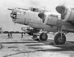 Avro Lincoln of 1 SQN RAAF at RAF Tengah in 1950.