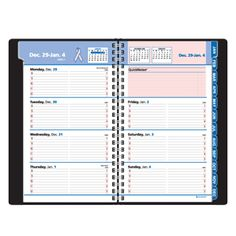 AT-A-GLANCE® QuickNotes® Breast Cancer Awareness Weekly/Monthly Appointment Book (Item # 76PN02)