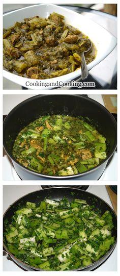 Persian celery stew Recipe