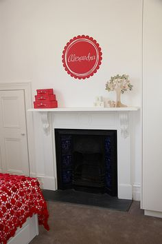 Fake fireplace - paint with chalkboard paint