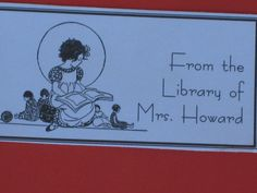 PDF Printable Book Plates  Teacher Gift Idea for the Holidays