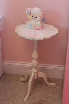 Shabby Chic Baby Girl Nursery Vintage Side Table