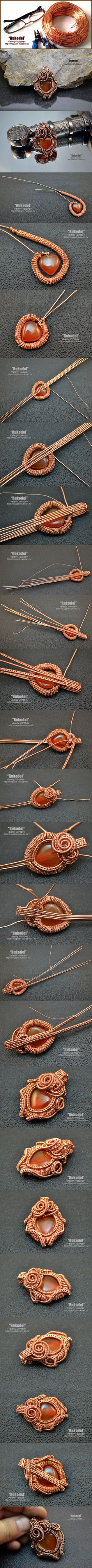Suspension of copper wire on Anatolyevich. | Crafts