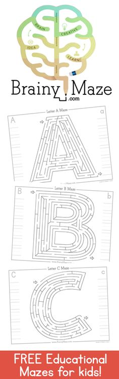 New Subscriber Freebie! A-Z Alphabet Handwriting and Mazes: Learning Through Play, Kids Learning, Math Blocks, Mazes For Kids, Handwriting Alphabet, Abc Activities, Alphabet For Kids, Beginning Of The School Year, Kids Writing
