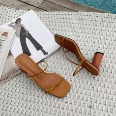 Open Toe Sandals, Brown Sandals, Shoes Sandals, Sandals Sale, Simple Sandals, Sandals Outfit, Sandal Heels, Heeled Sandals, Strappy Sandals