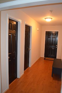 Parks Place: Black paint from a high school friends blog...painting interior doors black.