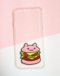 Hand painted Hamburger phone case - iPhone 6 case clear- iPhone 6 case - iPhone 6s case - Pokemon Phone Case - Samsung Galaxy S7 Edge Case sold by Mint Corner. Shop more products from Mint Corner on Storenvy, the home of independent small businesses all over the world.