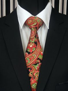 Christmas Tie Paisley – Mens Christmas Necktie, Available as a Skinny Tie and a Extra Long Tie Paisley Tie, Paisley Pattern, Make A Tie, Christmas Ties, Extra Long Ties, Tie Styles, Wedding Ties, Skinny Ties, Sharp Dressed Man
