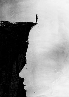 I'm standing on your edge, hardly seeing a decision for Hobby … Sad Drawings, Dark Art Drawings, Art Drawings Sketches Simple, Pencil Art Drawings, Charcoal Drawings, Drawing Faces, Drawing Tips, Sad Paintings, Deep Art