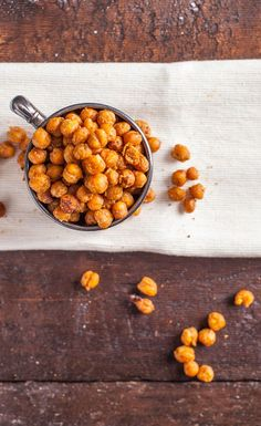 'Get Ready for Spring' Snack Recipe: Nacho Seasoned Roasted Chickpeas. #Spring