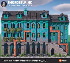 Minecraft Marvel, Minecraft Wall, Easy Minecraft Houses, Minecraft Medieval, Minecraft Decorations, Minecraft Tips, Minecraft Tutorial, Minecraft Blueprints, Minecraft Creations