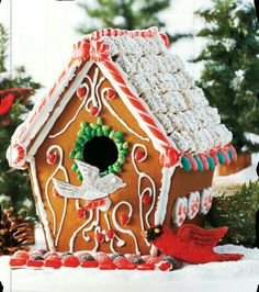 Birdhouse Gingerbread house