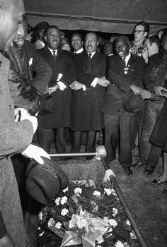 Jimmie Lee Jackson's funeral, Marion AL. The young Jackson was slain by the Klan, who incited him by beating his mother. Jackson was murdered while trying to defend her in February of 1965.