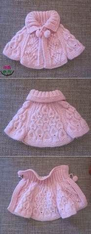 Baby Knitting Patterns Girl No title Baby Knitting Patterns, Knitting For Kids, Knitting Designs, Baby Patterns, Free Knitting, Knitting Projects, Crochet Projects, Crochet Patterns, Poncho Patterns