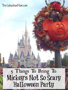 5 Things To Bring To Mickey's Not So Scary Halloween Party | TheSuburbanMom