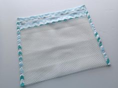 How to sew a mesh lingerie bag. Ideal when travelling and packing, for sorting lingerie in your drawer or for protecting delicate lingerie in the laundry. Bag Patterns To Sew, Sewing Patterns, Delicate Lingerie, Plastic Mesh, Mesh Laundry Bags, Pouch Pattern, Net Bag, Mesh Netting, Fabric Bags