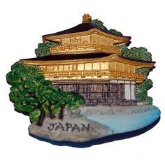 PLACES I'VE BEEN TO'S MAGNET - Resin Fridge Magnet: Japan. Kyoto. Kinkaku-ji (the Golden Pavilion) - $6.  http://www.world-wide-gifts.com/souvenirs/00003752-resin-fridge-magnet-japan-kyoto-kinkaku-ji-the-golden-pavilion/