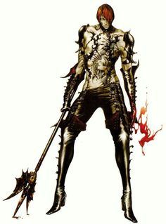 Isaac. Castlevania art by Ayami Kojima (a Japanese game and concept artist who is best known for her work on the Castlevania series of video games with Konami)