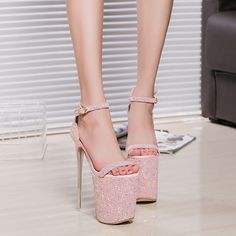 Office & School Supplies Honesty Sexy Sandals Peep Toe High Heel Platforms Pole Dance 20cm High Heels Platform Sandals Party Wedding Dance Shoes Buy One Give One