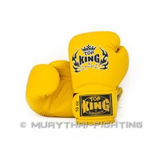 "++AUCTION++ TOP KING Boxing Gloves ""Super"" TKBGSV Yellow Size 10 Availability: In stock."