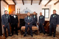 teal tie groomsmen. Padua Hills Theatre Wedding for Rho and Len in Claremont
