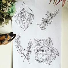 Tribal Wolf Tattoo, Wolf Tattoos, Animal Tattoos, Tatoos, Mini Tattoos, Body Art Tattoos, Tattoo Sketches, Tattoo Drawings, Tattoo Studio
