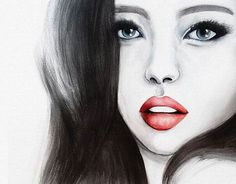 """Check out new work on my @Behance portfolio: """"Look / Commission""""  #canvas #commission #face #girl #watercolors #painting http://be.net/gallery/35012339/Look-Commission"""