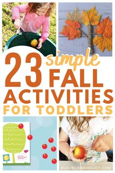 Fall Activities For Toddlers, Activities For 1 Year Olds, Crafts For 2 Year Olds, Seasons Activities, Outdoor Activities For Kids, Nature Activities, Halloween Activities, Painting Activities, Motor Activities