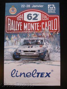 AFFICHE ORIGINALE ACM 62° RALLYE MONTE CARLO 1994 WRC fr.picclick.com