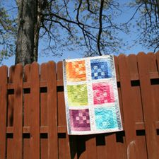 Sewing Inspiration: Technicolor Quilt via Sew Mama Sew