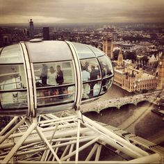 High in the sky in the London Eye! #travel
