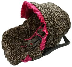 Leopard Diva/Hot Pink Infant Car Seat Cover