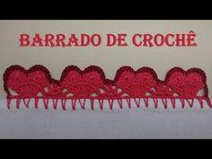 Barradinho de crochê em forma de coração com passo a passo e confecção fácil e rápida. MATERIAL UTILIZADO: Linha anne e agulha de crochê 1.5mm