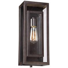 This outdoor light from Possini Euro Design comes with a vintage-look Edison bulb that lends it a wonderfully nostalgic look and feel.