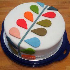 Orla Kiely inspired birthday cake.