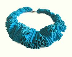 teal bib necklace leather choker suede collar avant by frankideas  Ingrid: this looks really delicious. Reminds me of making fresh pasta.